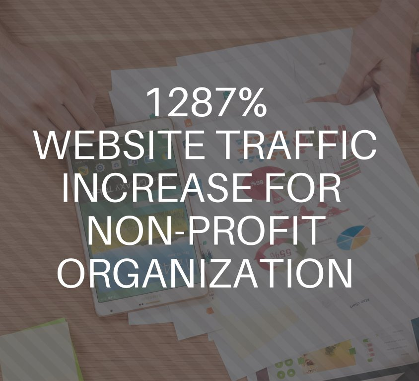 1287% Traffic Increase To Website For Non-Profit Ministry